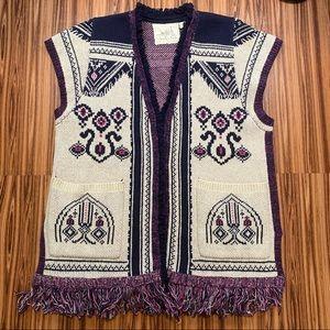{Anthro} Angel of the North Lamaline Sweater Vest
